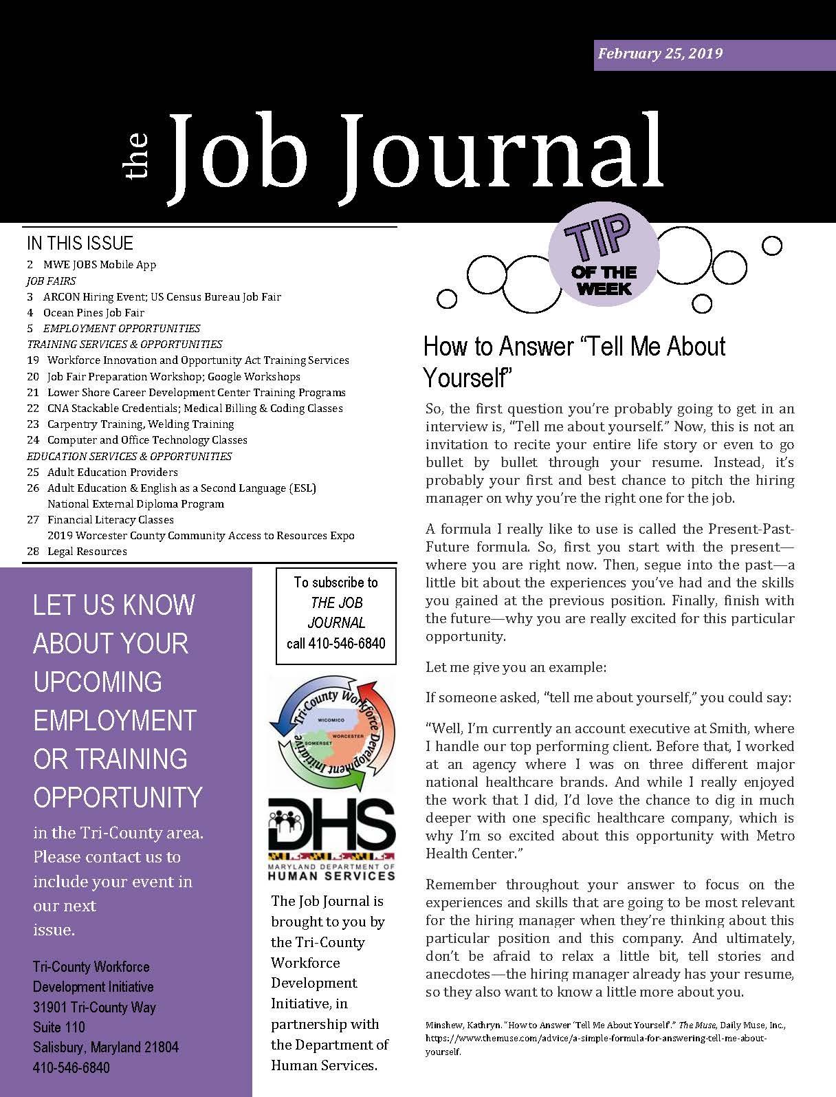 The Job Journal Feb. 25, 2019
