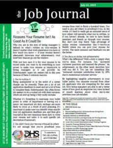 Job Journal July 15, 2019