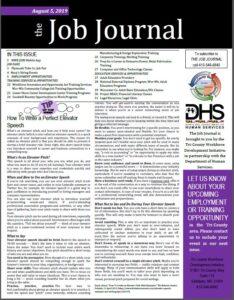 Job Journal August 5, 2019