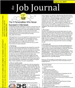 Job Journal 8/12/19