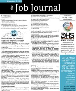 Sept. Job Journal