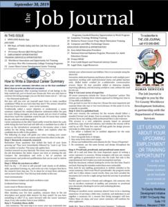 Last week of September Job Journal