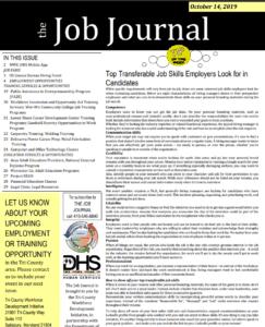 job journal 10/15/19